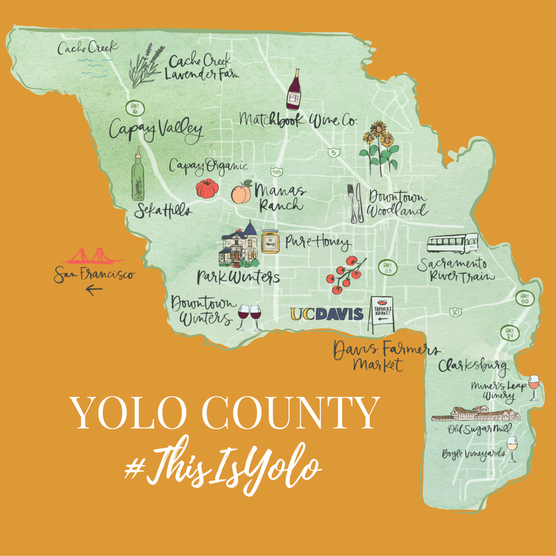 Yolo County Orange on California Map Davis Ca